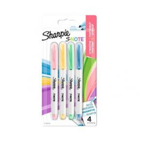 Sharpie S-Note Chisel 4-Blister, Ass.colors