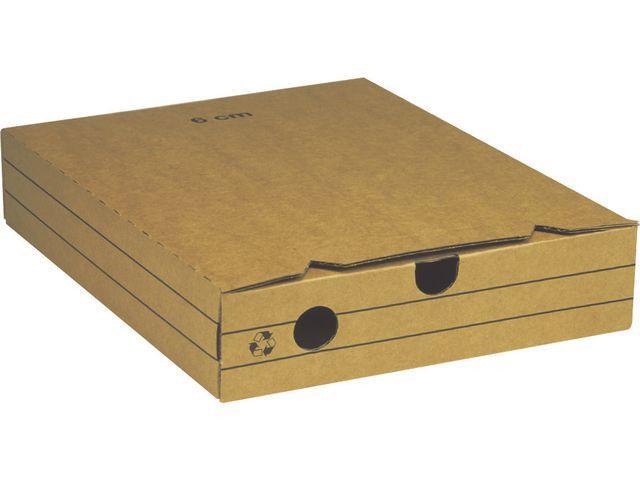 Arkivbox A4, wellpapp, 6cm 25st