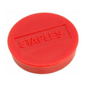 Magnetknappar STAPLES 10mm röd 10/FP