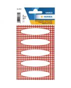 Herma stickers Home ram rödrutig (4)