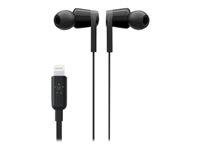 Belkin ROCKSTAR - Hörlurar med mikrofon - inuti örat