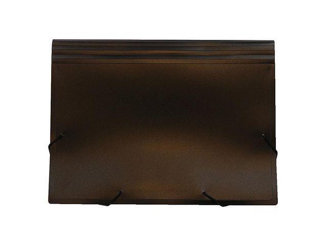 Hemarkiv Plast A4, 12 fickor, visitkortsficka fram, svart