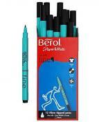 Fiberpenna BEROL Colourfine svart 12/FP