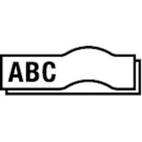 Märkband Dymo D1 Flex, nylon, svart/vit, 12mm