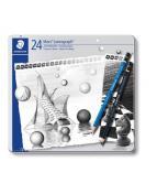 Mars Lumograph Pencil, 24 ass, metalcase