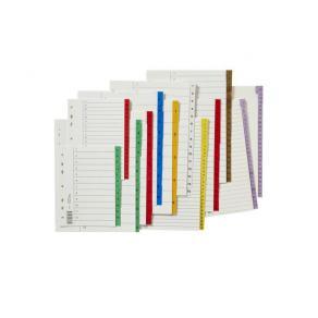 Register plastflik 1-12 grön 10/FP