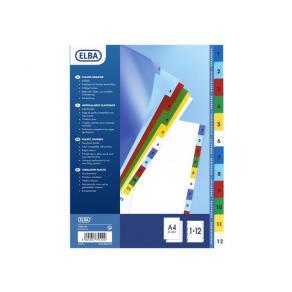 Pärmregister Plast ELBA A4 1-10