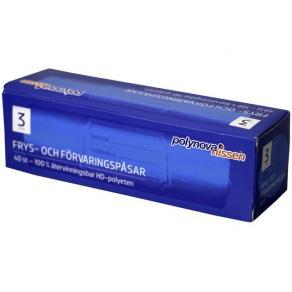Fryspåse 3-liter, HD-polyeten, 40/rl