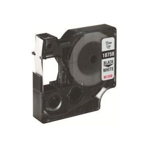 Märkband Dymo Rhino Flex, nylon, svart/vit, 12mm