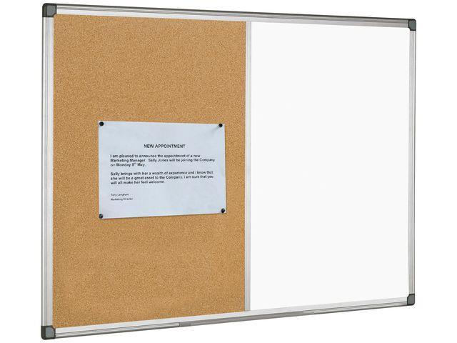 Kombinerad whiteboardtavla anslagstavla 90x60cm