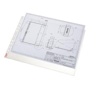 Plastficka Mapp ESSELTE A3L, 0,08, präglad, 50st
