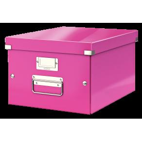 Förvaringslåda Medium Click & Store WOW Rosa