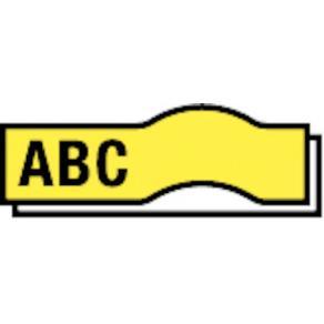 Märkband Dymo D1, plast, svart/gul, 12mm