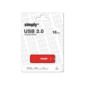 USB-Minne SIMPLY USB 2.0 16GB Cap