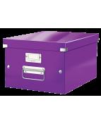 Förvaringslåda Medium Click & Store WOW Lila
