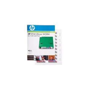 HPE Ultrium 4 WORM Bar Code Label Pack - Streckkodsetiketter