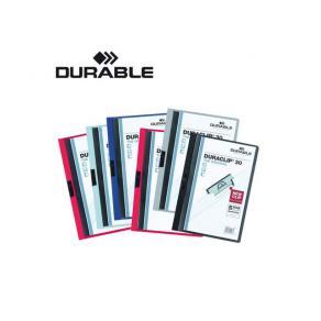 Klämmapp DURABLE Duraclip A4 Blå, 60 blad, 25st