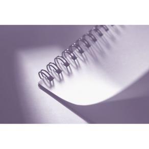 Stålpiral 34-ringar Svart, 8mm, 50 blad, 100/fp