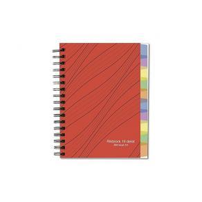 Anteckningsbok A5 70g 200 blad med 10 avdelare, spiral