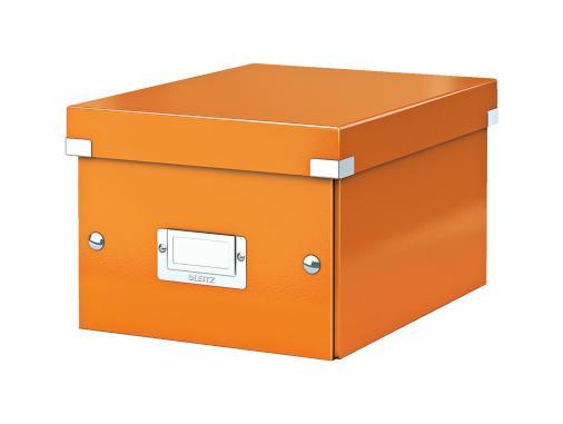 Förvaringslåda Liten Click & Store WOW Orange, 6st 6st