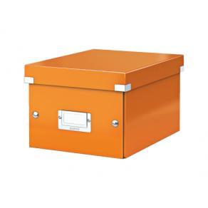 Förvaringslåda Liten Click & Store WOW Orange, 6st