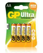Batteri GP Ultra Alkaline LR6/AA, 1,5V, 4/fp