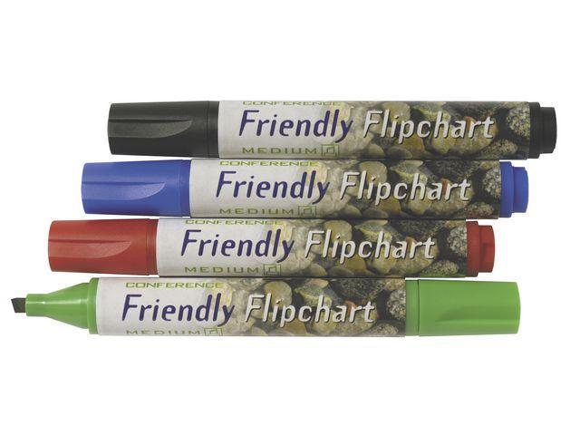 Blädderblockspenna Friendly, sned, 2-5mm, 4/fp