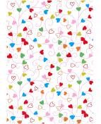 Presentpapper Hearts 57cmx154m