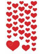 Stickers hjärtan röda 114/fp