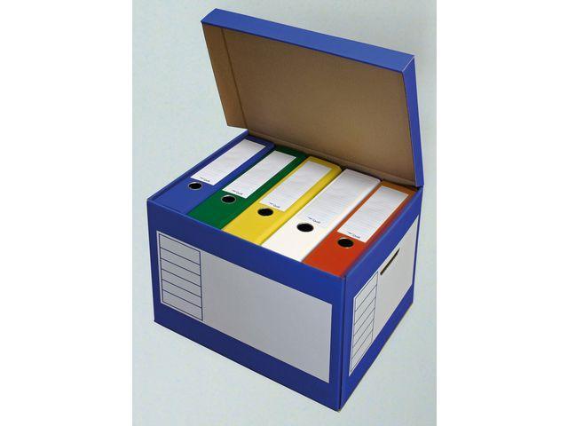 Arkivbox med lock 390x330x290mm, Blå, 10st