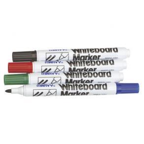 Whiteboardpenna MARVY, konisk, 4 färger/fp