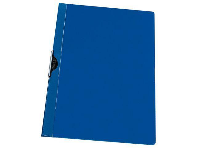 Klämmapp STAPLES A4 6mm blå 25st
