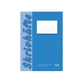 Skrivhäfte A5 Blå, linjerat, 25st