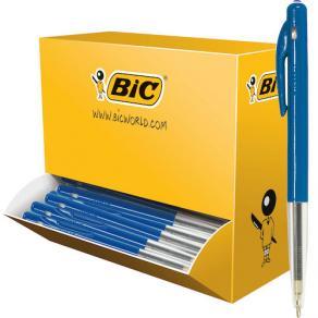 Kulpenna BIC Clic M10 1,0 blå 100/FP