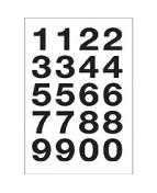 Herma etikett siffror 0-9 20x18 svart