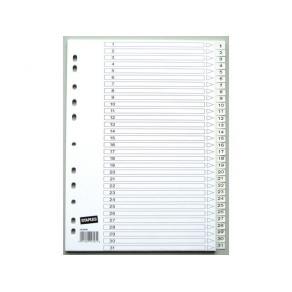 Plastregister STAPLES A4 1-31 vita