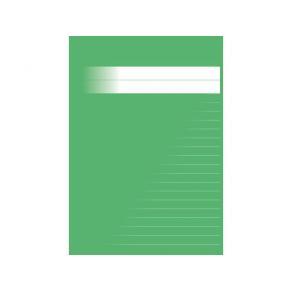 Skrivhäfte A5 olinj/linj 8,5mm grön