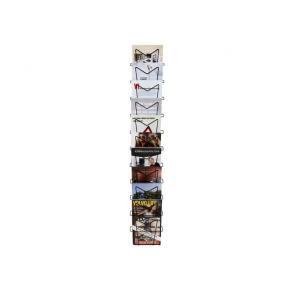 Broschyrställ A4 stående 11-fack svart