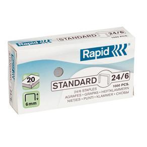 Häftklammer Rapid 24/6 Standard, 20ark, 1000/fp