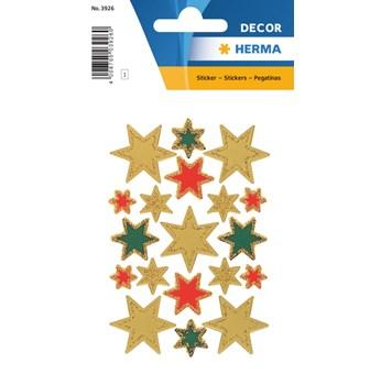 Herma stickers Decor stjärna glitter (1) 10st