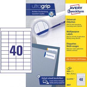 Etikett AVERY 48,5x25,4mm 4000/FP