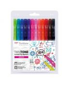 Tombow marker TwinTone bright 0,3/0,8 (12)