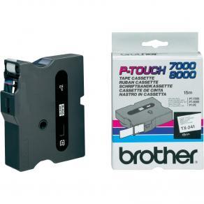 Märkband Brother TX241, svart/vit, 18mm