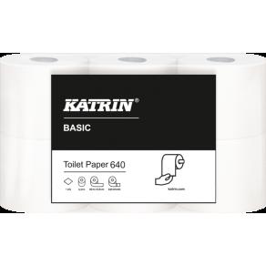 Toalettpapper KATRIN Basic 640, 1-lag, 80m, 42 rl/fp