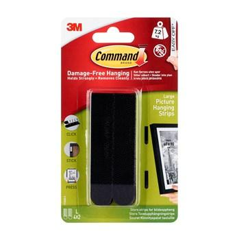 Command? Large Black Picture Hanging Strips 17206BLK