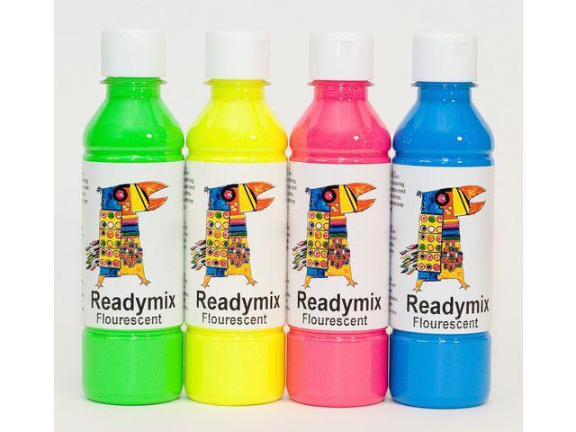 Redimix Fluorescerande, 250ml x 4 färger