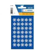 Herma stickers Decor stjärnor ø16 silver (3)