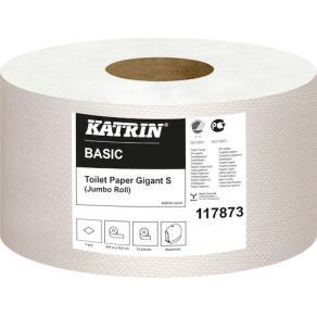 Toalettpapper KATRIN Basic Gigant S, 1-lager, 265m, 12/fp