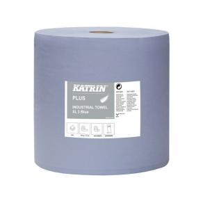 Industritorkrulle KATRIN Plus XL3 Blå, 3-lag, 370m/rl
