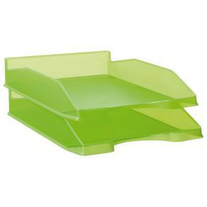 Brevkorg STAPLES A4 transp. limegrön